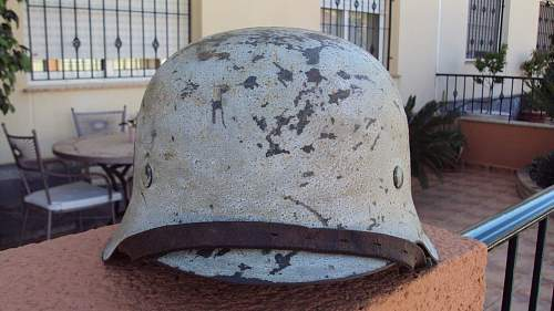 "My Helmet M42 ""SS"" ET66.Camuflage hibernate. Please, opinions, calca original? Thanks."