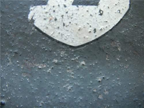 M42 single decal SS helmet