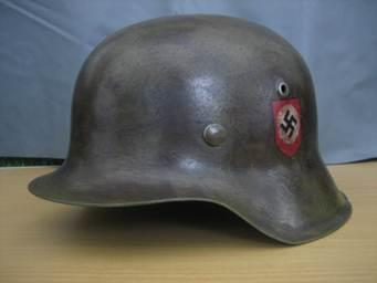 SS double decal M42 helmet
