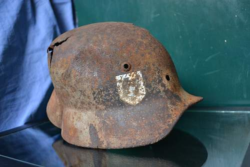 Two ss Relic Helmets