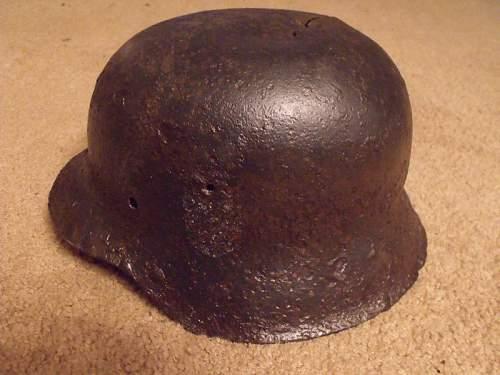 SS M42 german helmet decal fake or real?