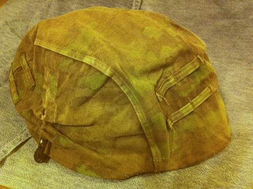 Real Waffen SS camo helmet cover?
