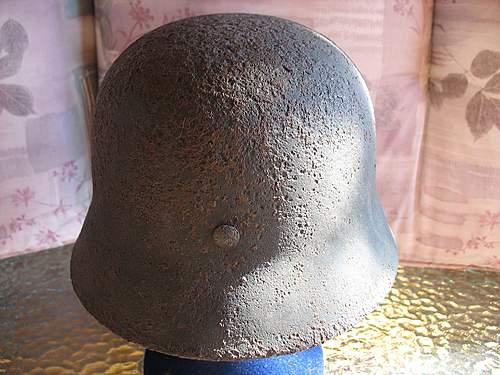 Original Waffen SS M40 helmet