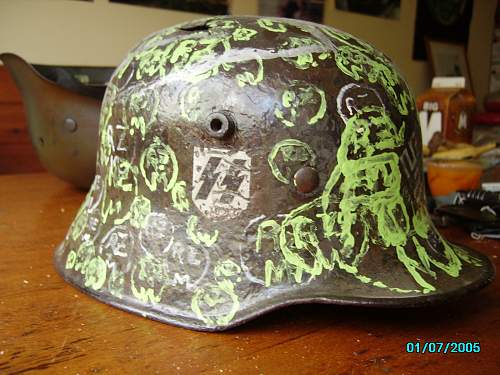 Rarest m16 /m18 rzm helmet in the world with over 250 rzm stamps whats it worth??