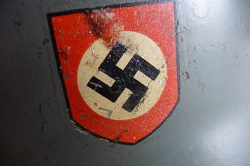 Waffen-SS M35 Double-Decal ET64 Helmet -- I Would Appreciate Any OPINIONS / COMMENTS