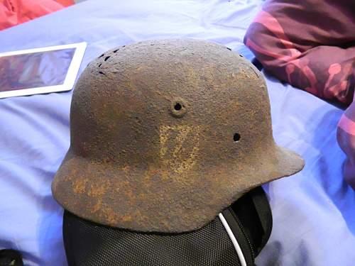 dug up german ss helmet real or not?