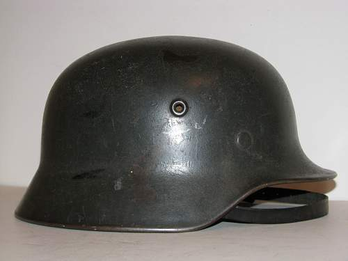 SS helmet with runes scratched off