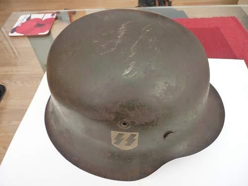 SS M42 Helmet with close ups