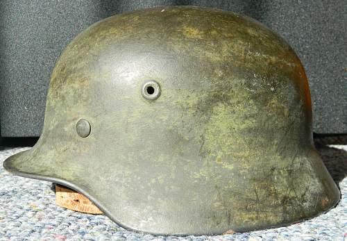 German writing inside Helmet