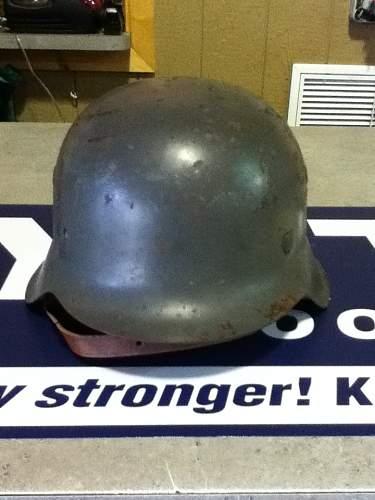 German helmet find