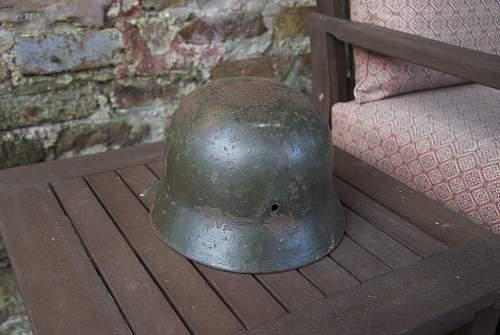 Better pics...of my grandfather's helmet.