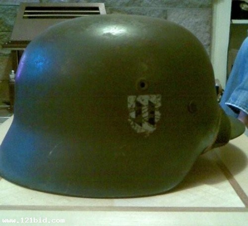 WW2 Croatian ss helmet. Buy the item not the story