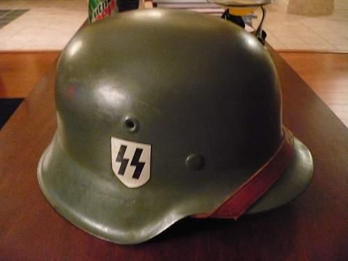SS german steel helmet