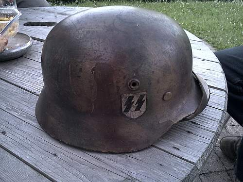 Waffen SS CAmo Helmet Normandy