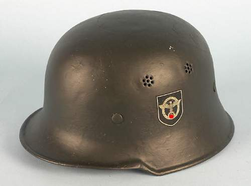 SS Police Helmet up for auction-Real?