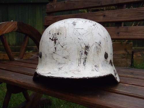 Is this helmet the real deal? (Waffen SS snow camo SD)