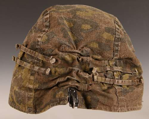 Waffen SS Helmet Cover - Real or Reproduction?