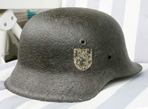 Ground dug relic SS M42 helmet - need your opinions please