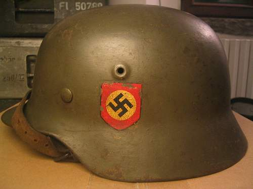 SS Helmet from the 1970's.. Nothing like a good old fake.. OR NOT??