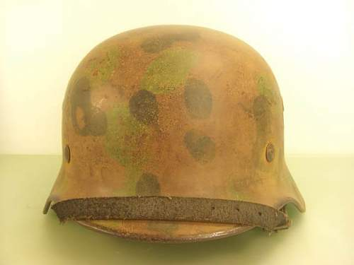 SS M40 SD Helmet with Waffen SS DOT Pattern Camouflage