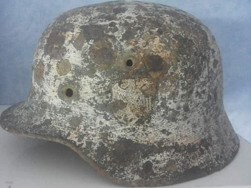 SS Helmet w/ Winter Camo