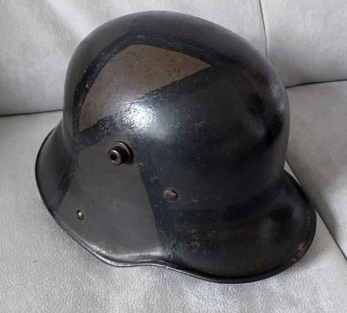 Quist SS Helmet + WW1 Camouflage Helmet ??