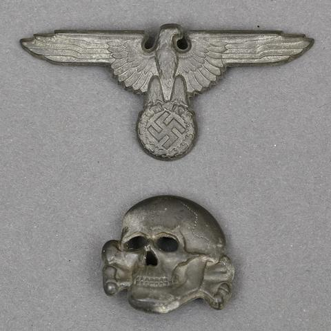 55809e44c20 Question Is this a original SS metal cap insignia eagle and skull ...