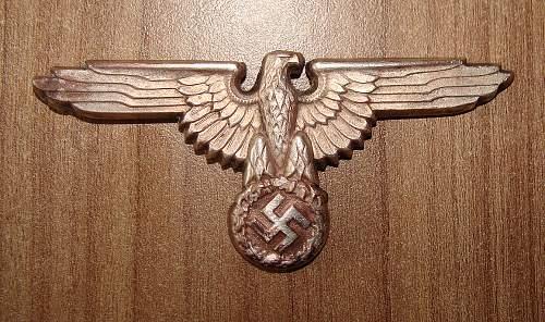 Rare SS 394/35 marked eagle
