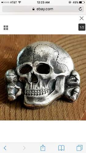Zimmerman Marked RZM 499/41 Skull from Ebay