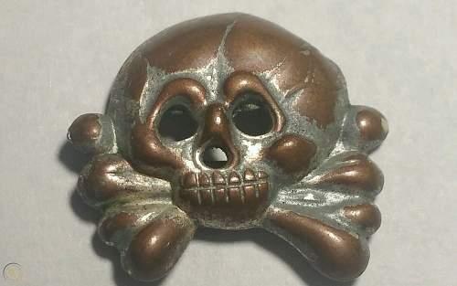 1st Pattern SS Skull Schirmmütze Totenkop?