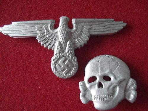 "SS metal cap eagle (""Pigeon Head"" fake.)"
