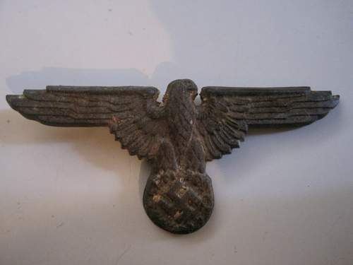 Opinion on this SS ground dug metal cap Eagle