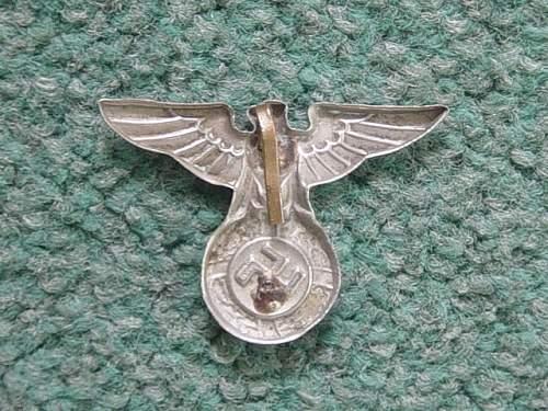 Click image for larger version.  Name:NSDAP cap eagle. Reverse..jpg Views:90 Size:146.7 KB ID:169123