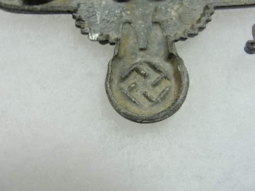 "SS Visor Cap Eagle by ""SS 475/39 RZM genuine?"