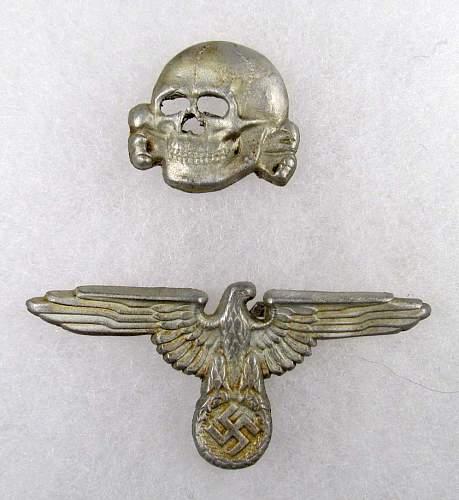 German nazi ss visor cap skull and eagle