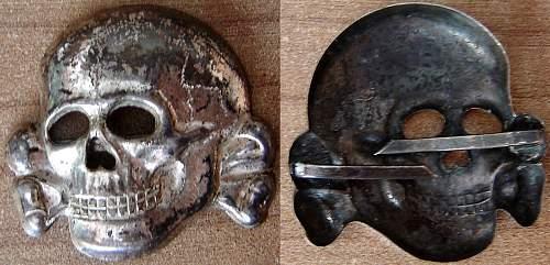 SS visor skull. Real or fake???