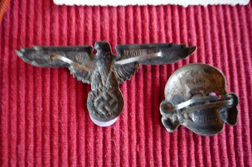 SS Totenkopf and eagle - fakes or not