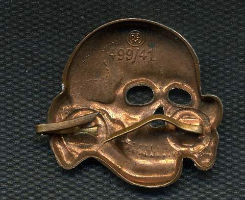 New SS set: Skull: Zimmermann 499/41:  eagle: M1/167 A.Hicke
