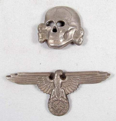 SS cap skull and eagle: marked  ES PF