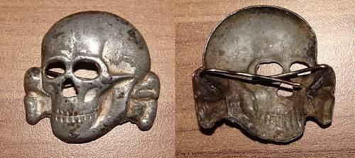 The Belgian made SS cap skull