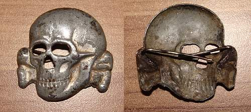 The Belgian made SS cap skull