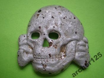 Is this an original Latvian made SS skull?