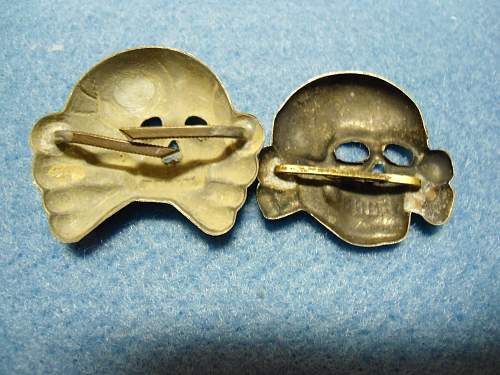 Totenkopf 2 badges, for comments..