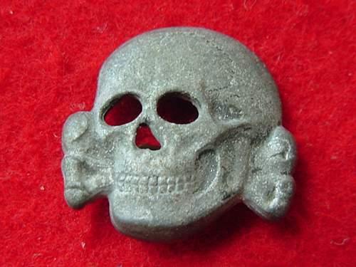 Rare SS skull marked S.P. 40