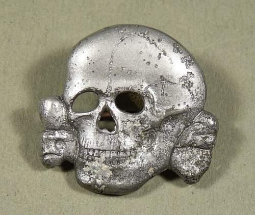 Waffen SS Zink skull