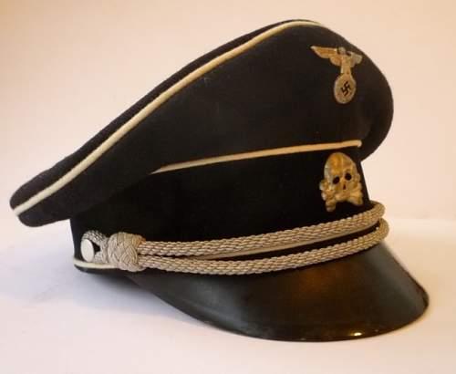 Opinions on early SS visor cap skull.