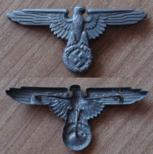 Unmarked SS cap eagle