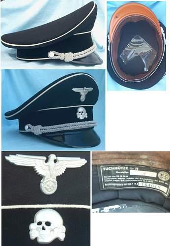 aluminum SS visor cap eagle: RZM M1/72