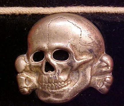Unmarked SS skull: maker?