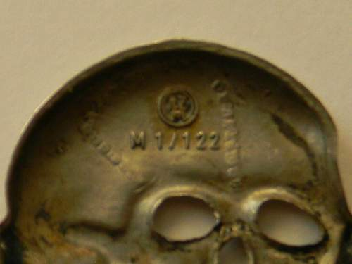 SS cap Eagle and Skull,, Recent find
